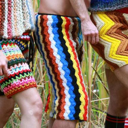 custom crochet shorts